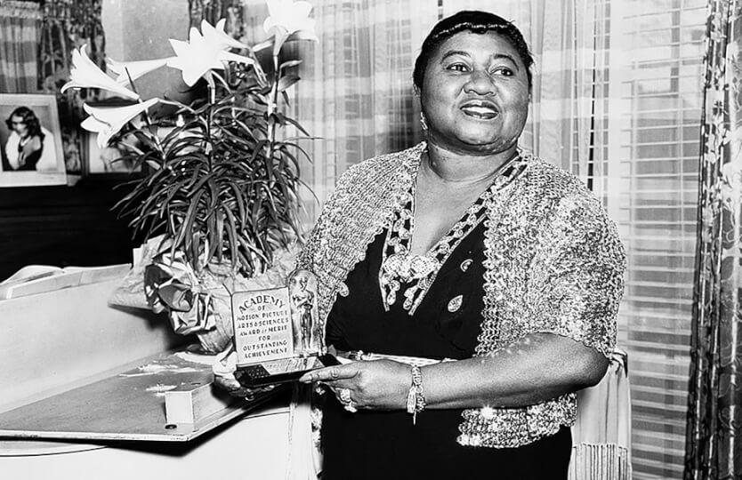 Hattie with her Academy Award